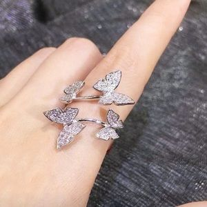 Jewelry - 🦋NEW 925 Silver Butterfly Crystal Adjustable Ring
